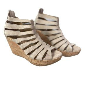 """Cordani """"Made in Italy"""" Suede Wedges Size 38"""